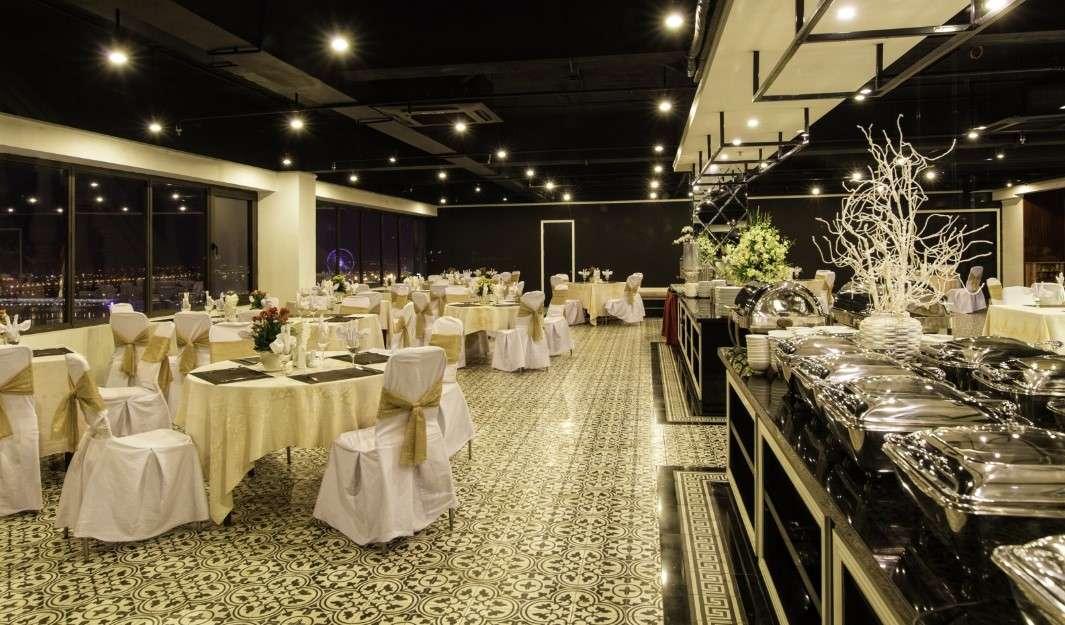 cafe tầng thượng khách sạn mường thanh luxury sông hàn Đà Nẵng