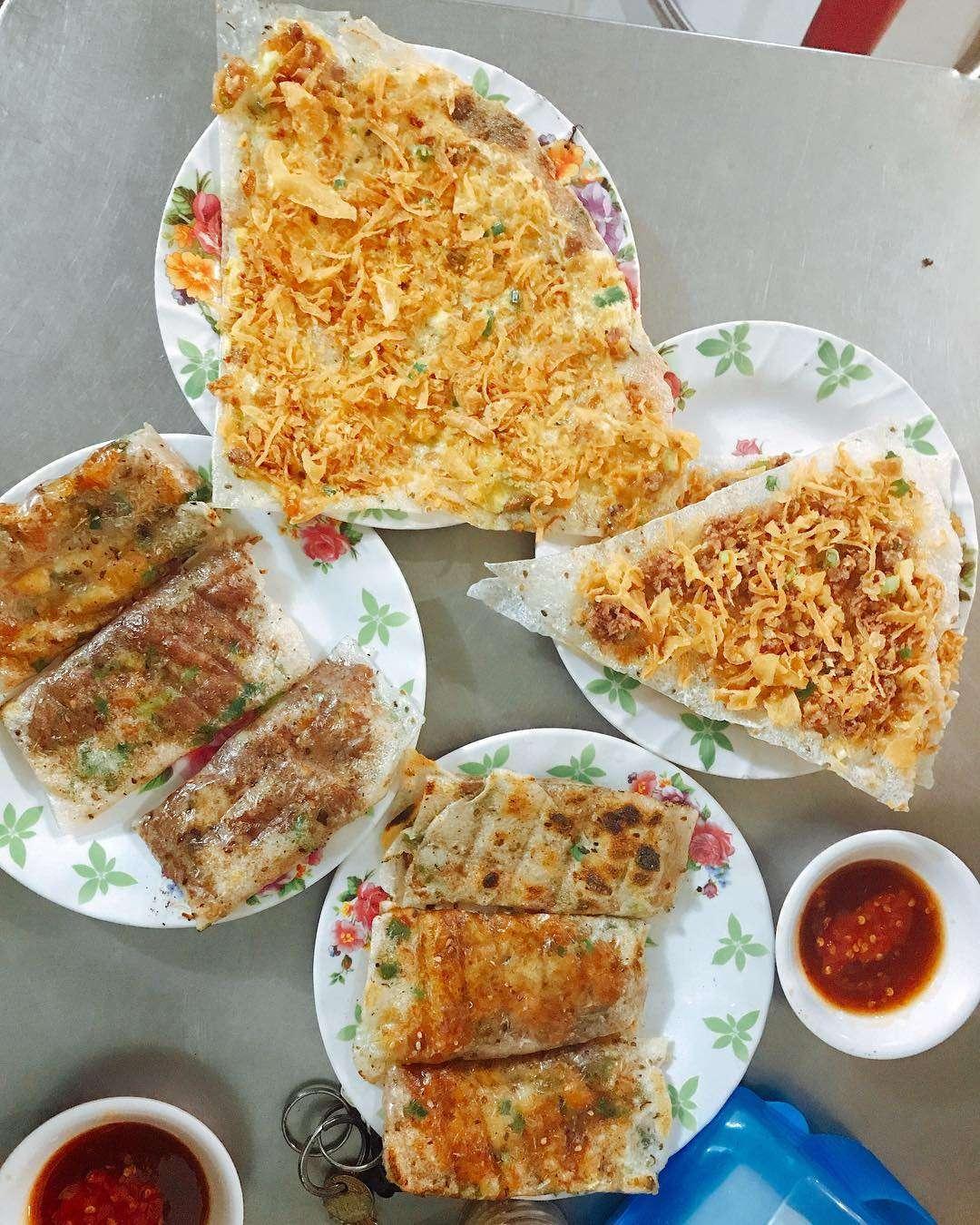 bánh tráng kẹp dì Hoa Đà Nẵng ngon tuyệt vời